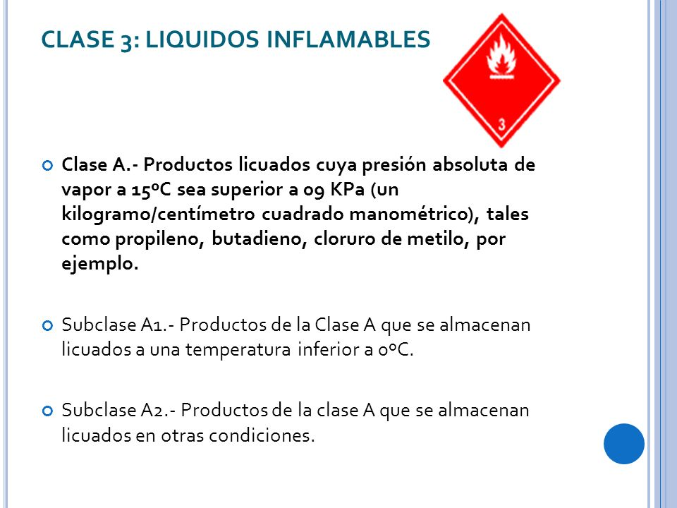CLASE 3: LIQUIDOS INFLAMABLES