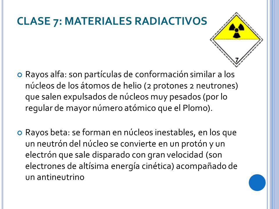 CLASE 7: MATERIALES RADIACTIVOS