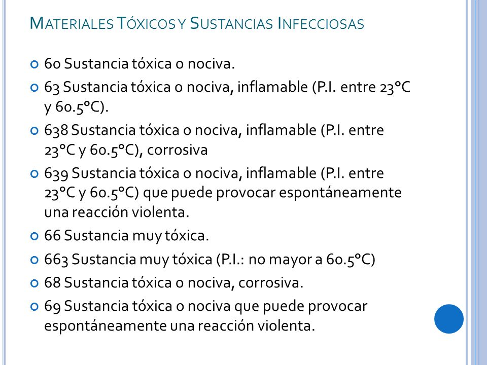 Materiales Tóxicos y Sustancias Infecciosas