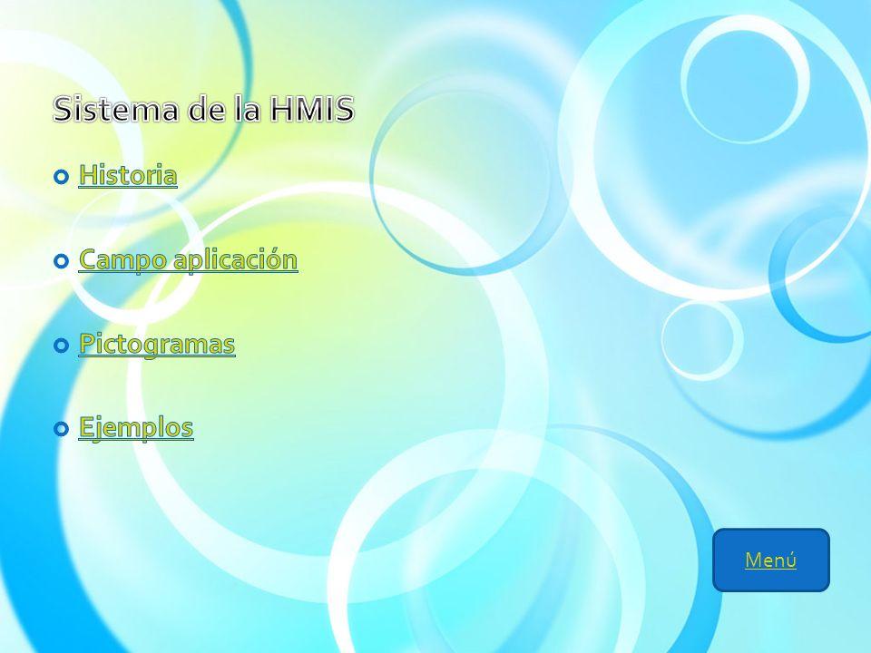 Sistema de la HMIS Historia Campo aplicación Pictogramas Ejemplos Menú