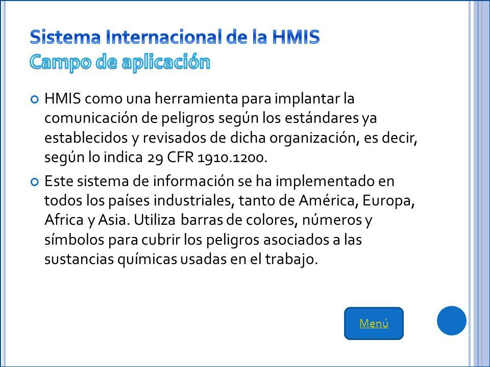 Sistema Internacional de la HMIS Campo de aplicación