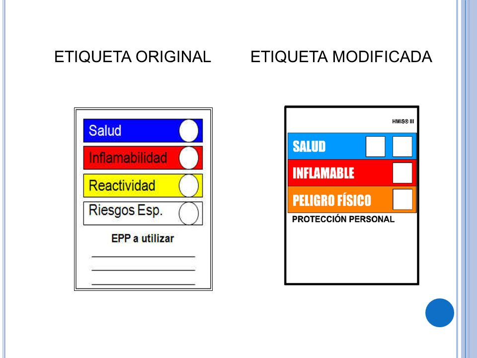 ETIQUETA ORIGINAL ETIQUETA MODIFICADA