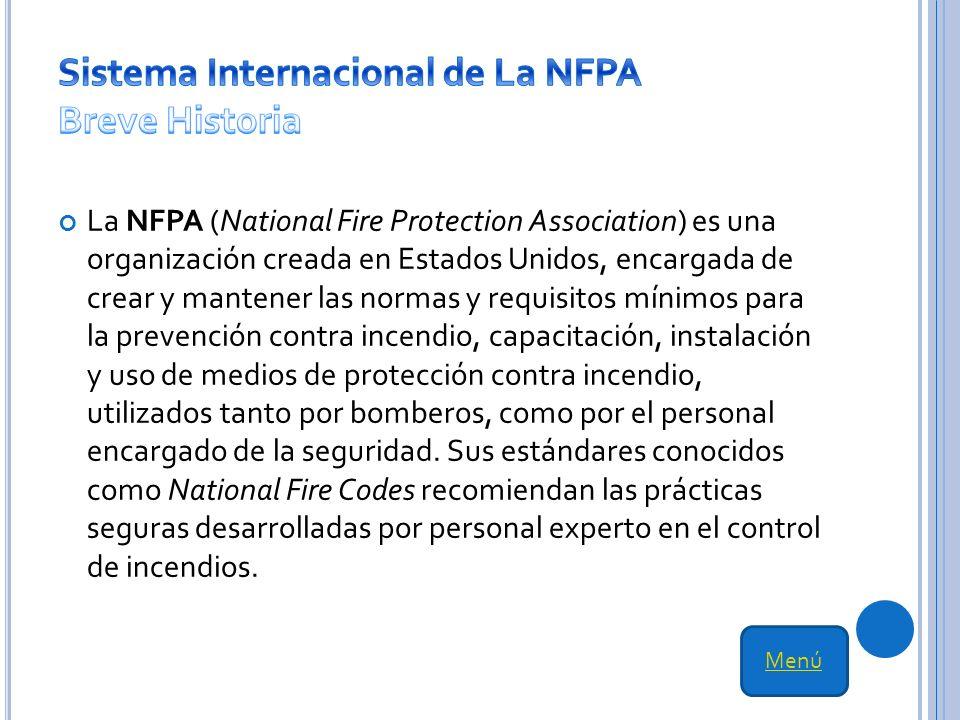 Sistema Internacional de La NFPA Breve Historia