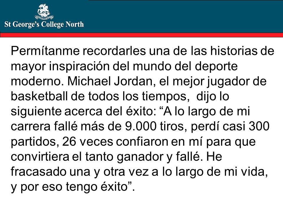 Permítanme recordarles una de las historias de mayor inspiración del mundo del deporte moderno.