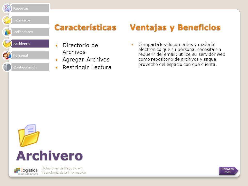 Archivero Características Ventajas y Beneficios Directorio de Archivos