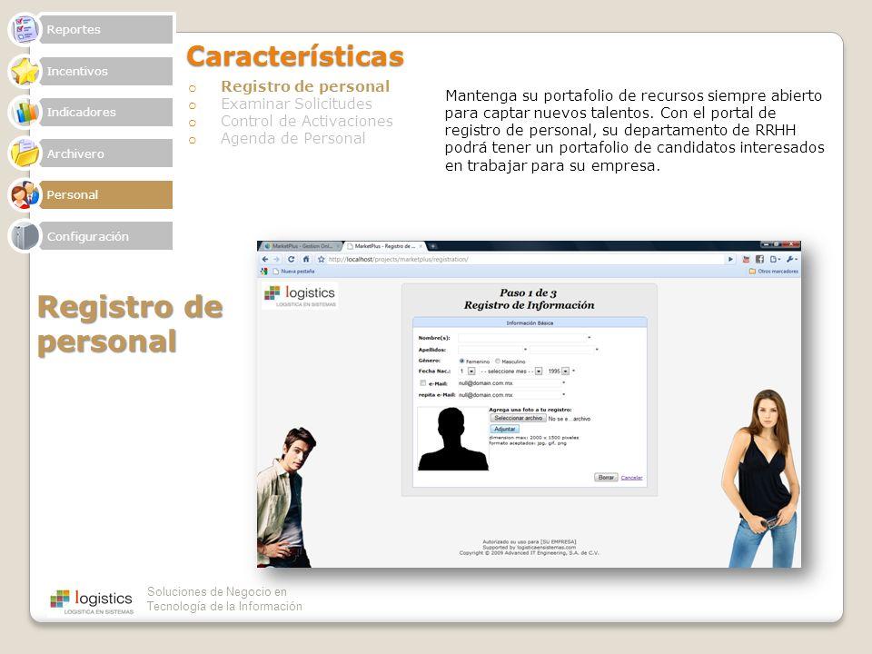 Registro de personal Características Registro de personal