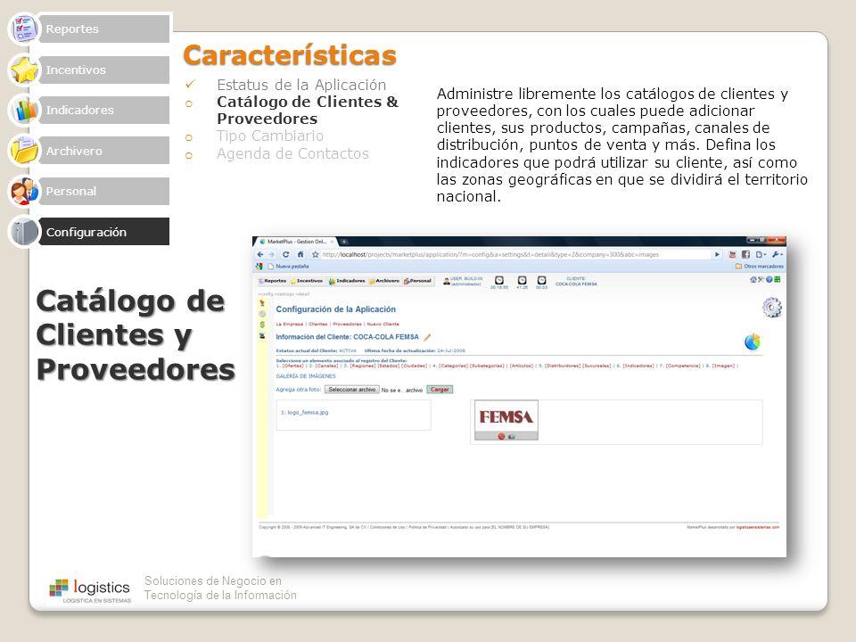Catálogo de Clientes y Proveedores