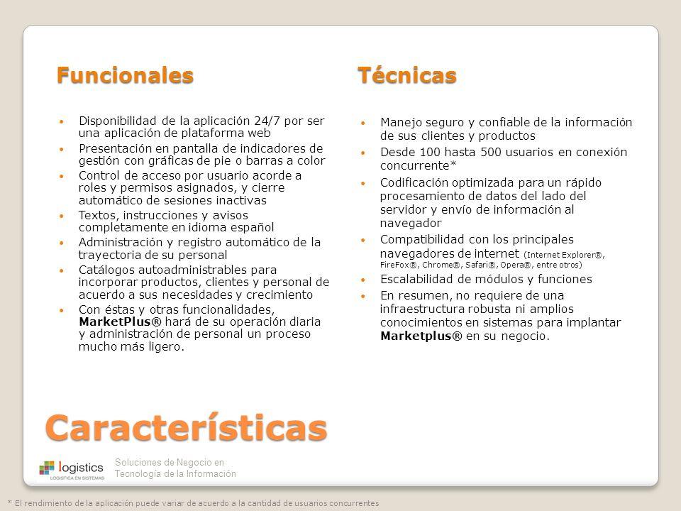 Características Funcionales Técnicas