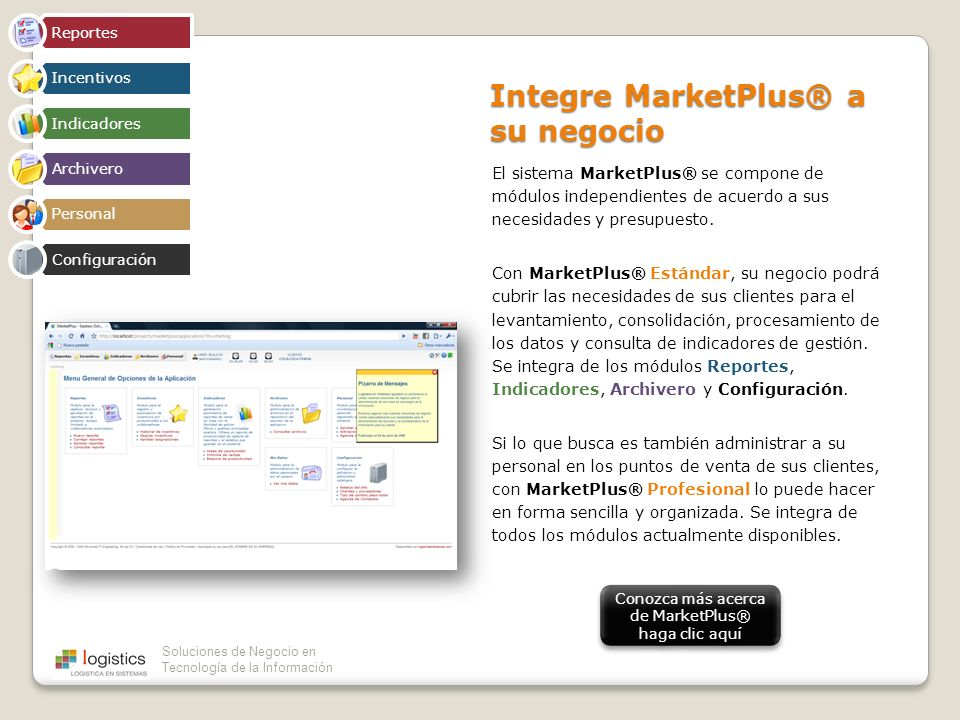 Integre MarketPlus® a su negocio