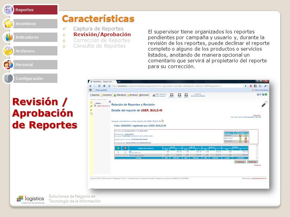 Revisión / Aprobación de Reportes