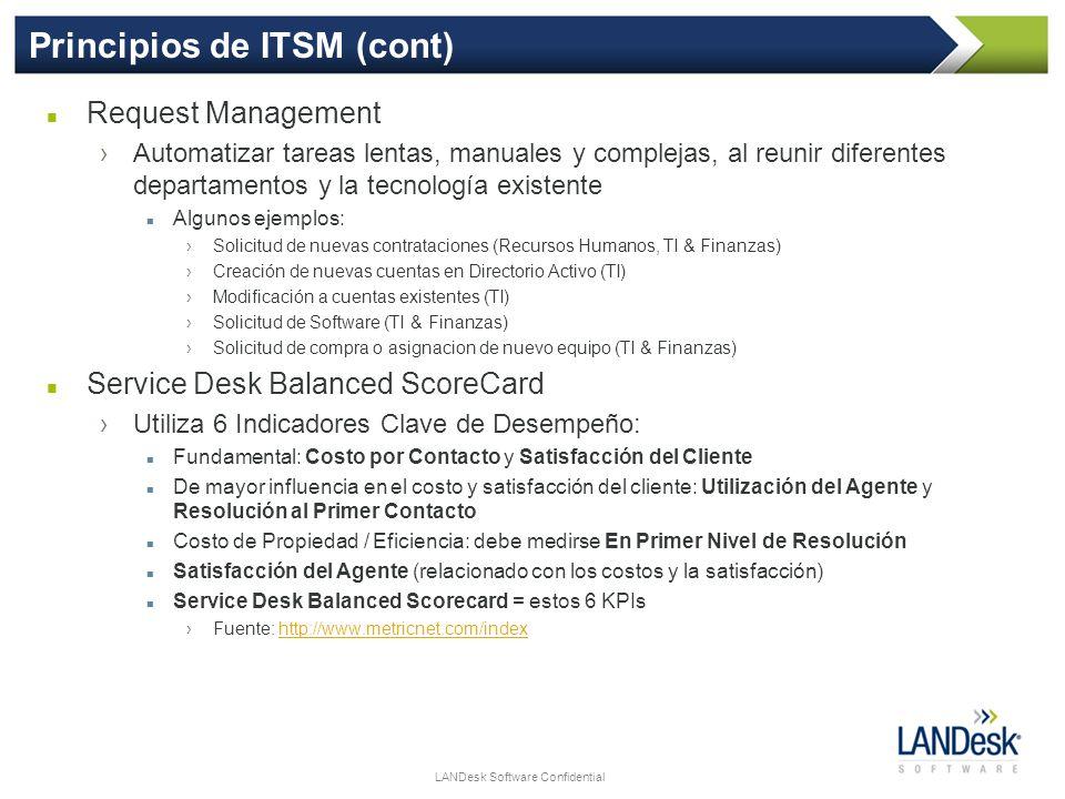 Principios de ITSM (cont)