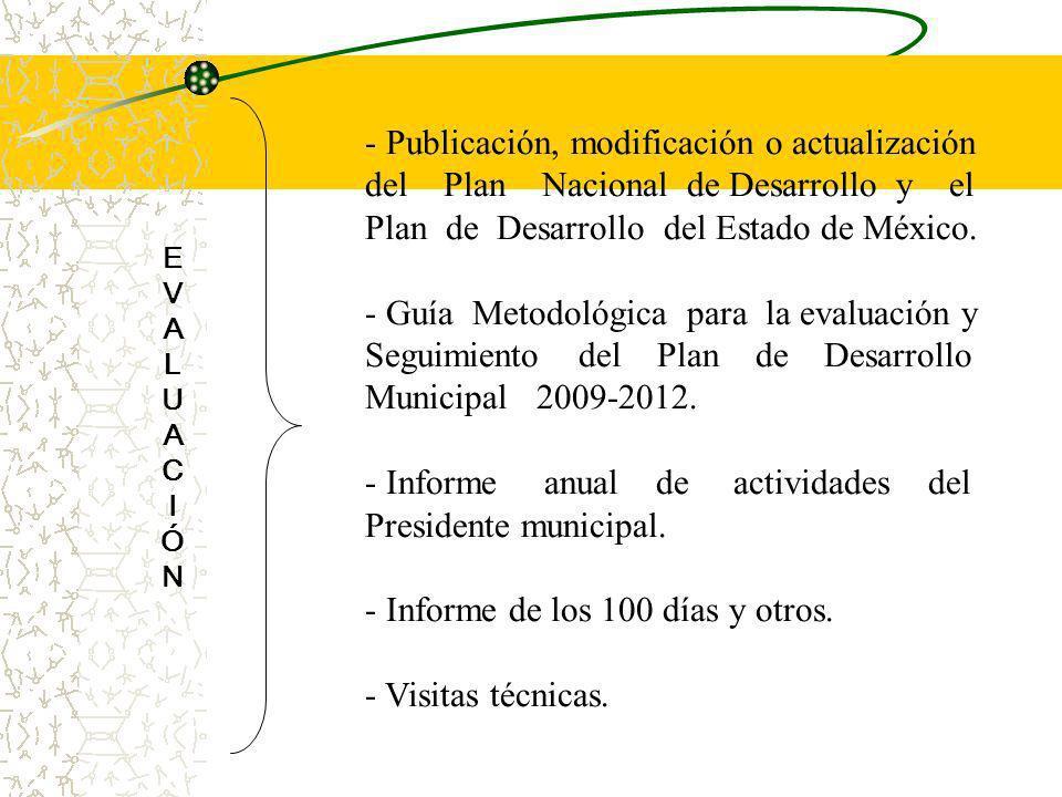 Publicación, modificación o actualización
