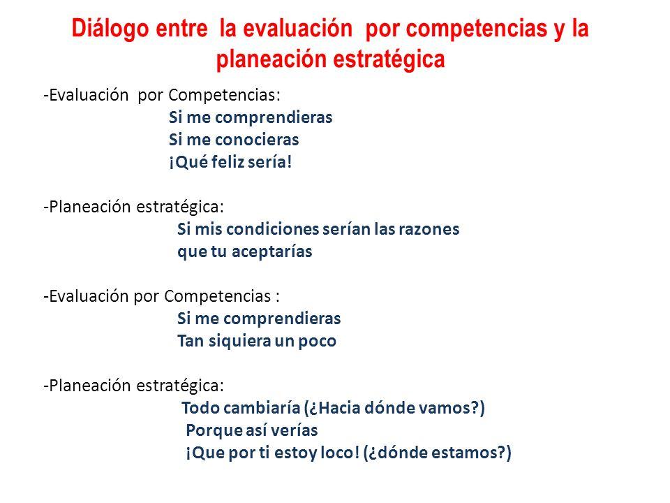 Diálogo entre la evaluación por competencias y la planeación estratégica