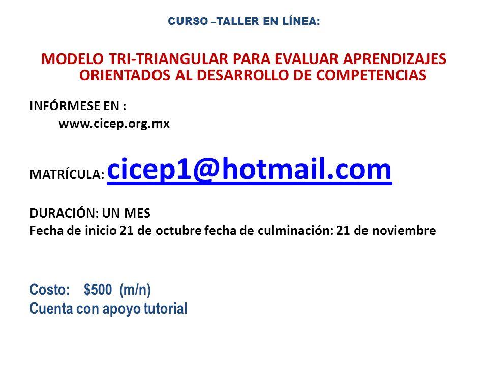 CURSO –TALLER EN LÍNEA: