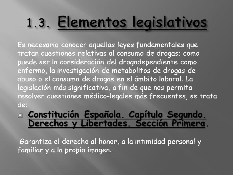 1.3. Elementos legislativos