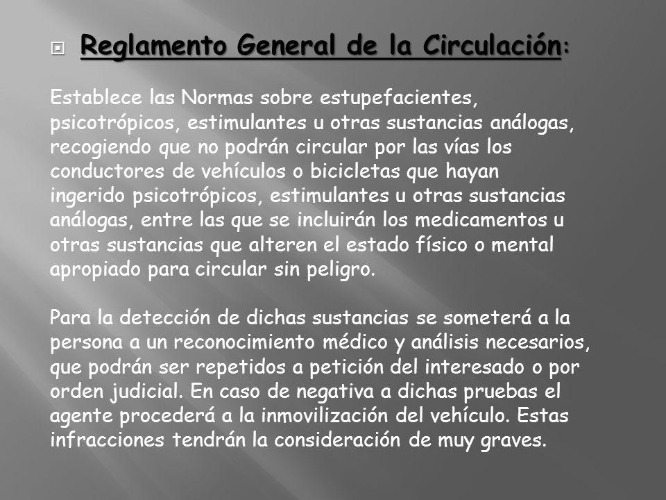 Reglamento General de la Circulación:
