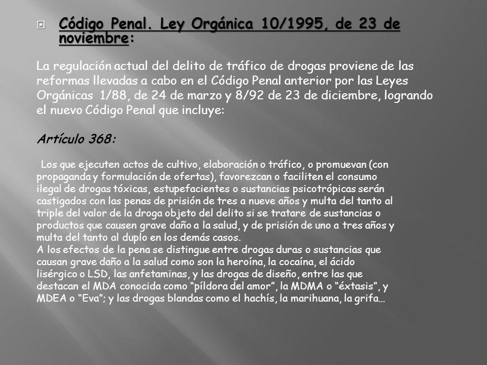 Código Penal. Ley Orgánica 10/1995, de 23 de noviembre:
