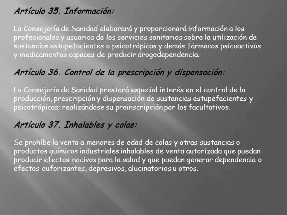 Artículo 35. Información: