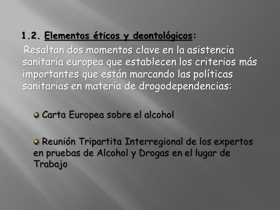 1.2. Elementos éticos y deontológicos: