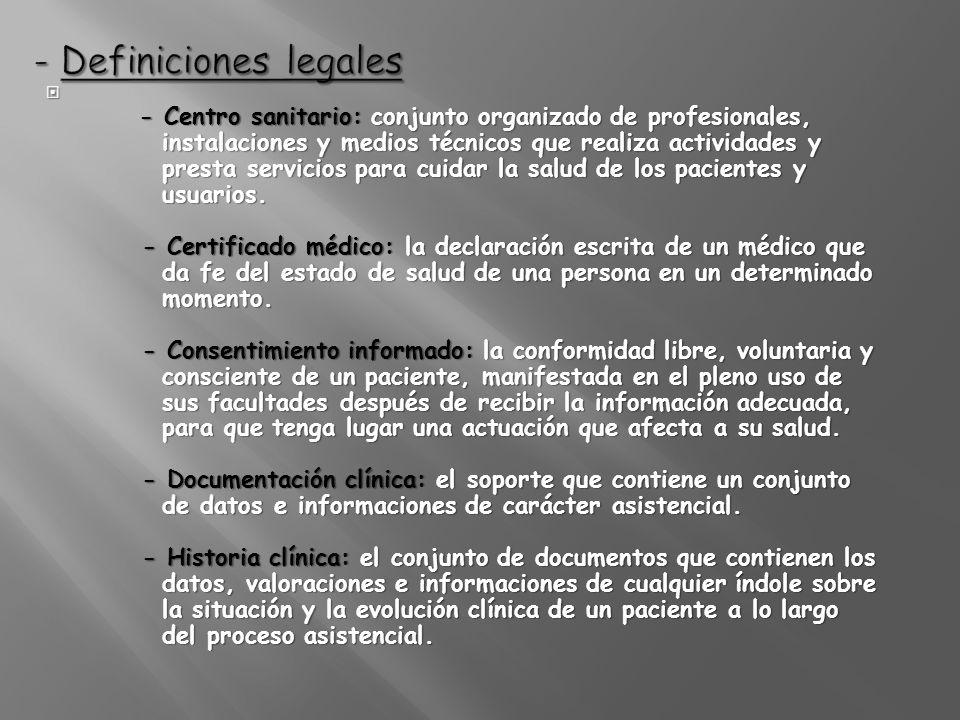 - Definiciones legales