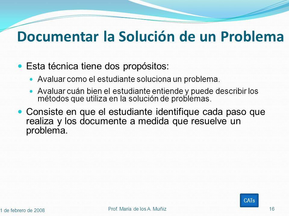 Documentar la Solución de un Problema