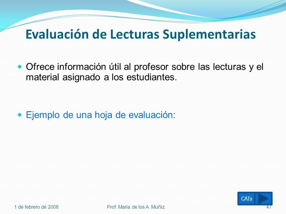 Evaluación de Lecturas Suplementarias