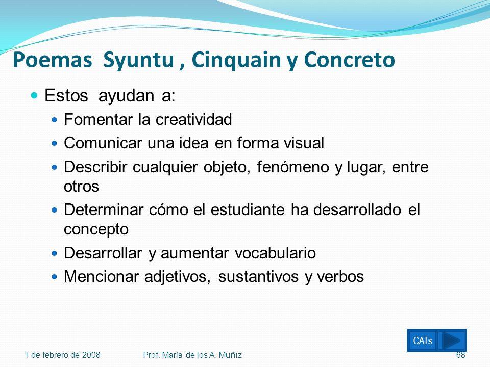 Poemas Syuntu , Cinquain y Concreto