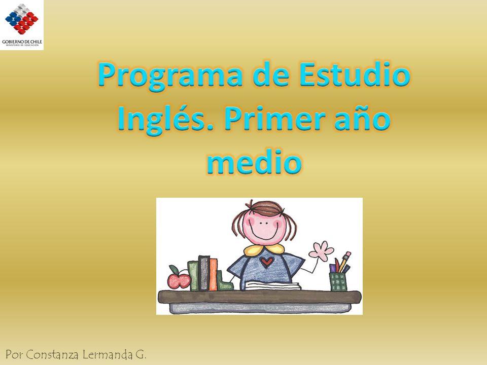 Programa de Estudio Inglés. Primer año medio