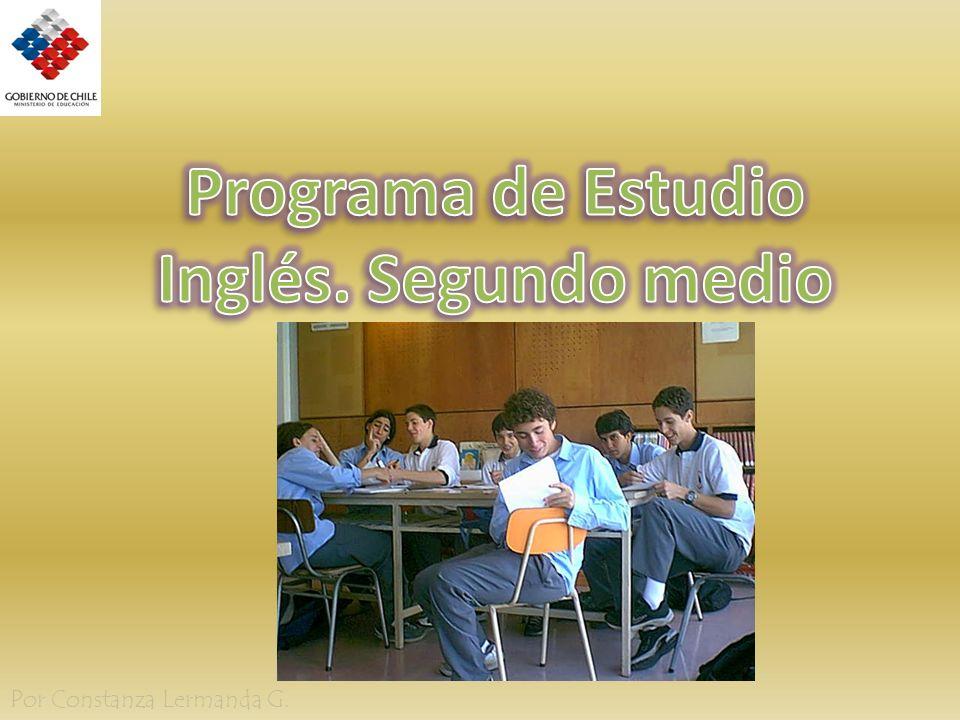 Programa de Estudio Inglés. Segundo medio