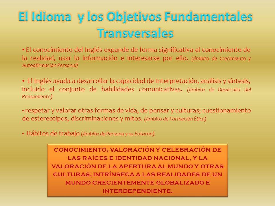 El Idioma y los Objetivos Fundamentales Transversales