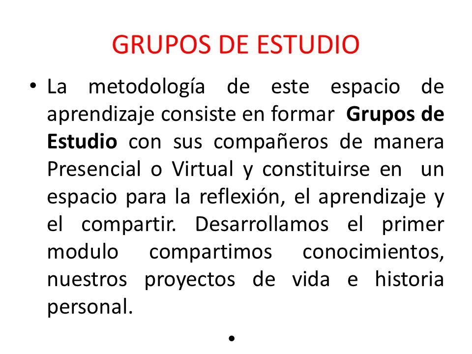 GRUPOS DE ESTUDIO