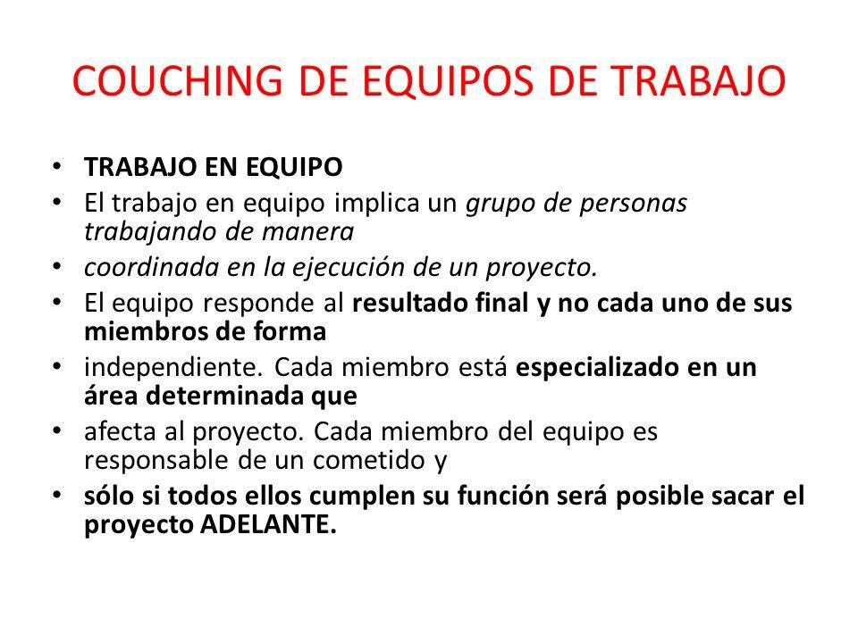 COUCHING DE EQUIPOS DE TRABAJO