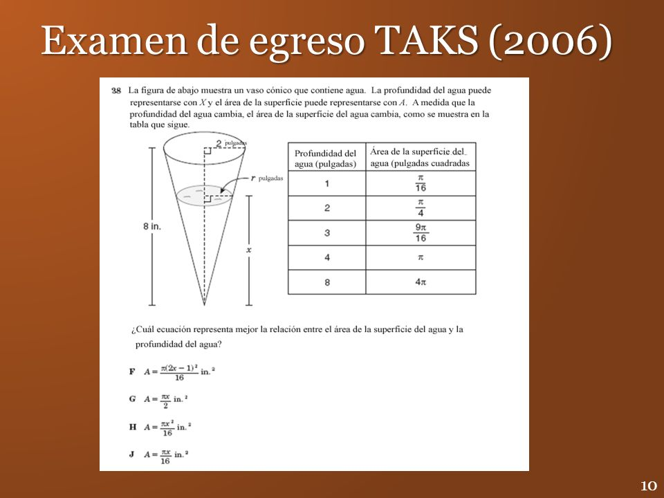 Examen de egreso TAKS (2006)