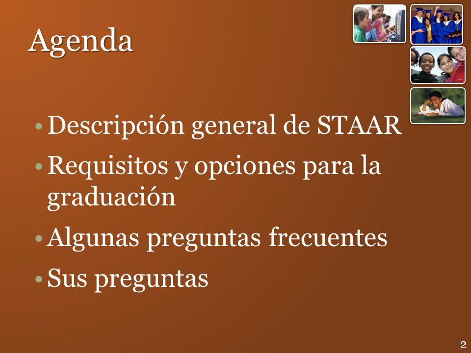 Agenda Descripción general de STAAR