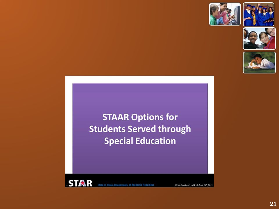 This short video will illustrate the testing options for students served through special education.