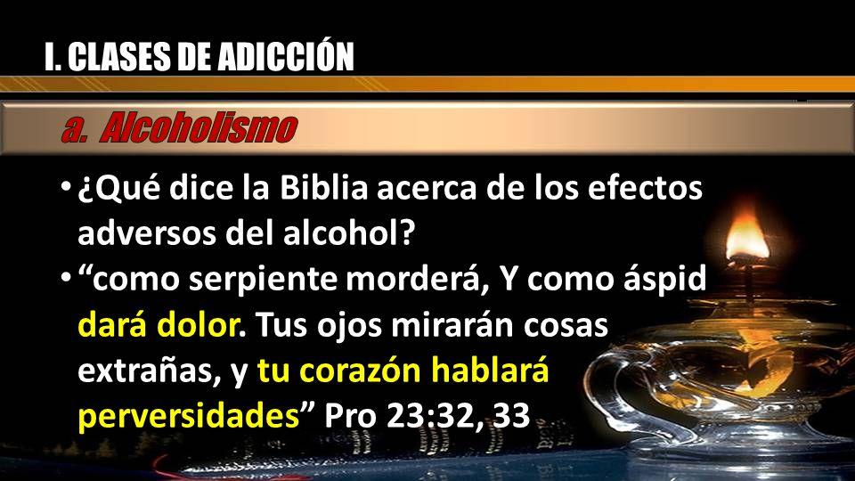 ¿Qué dice la Biblia acerca de los efectos adversos del alcohol