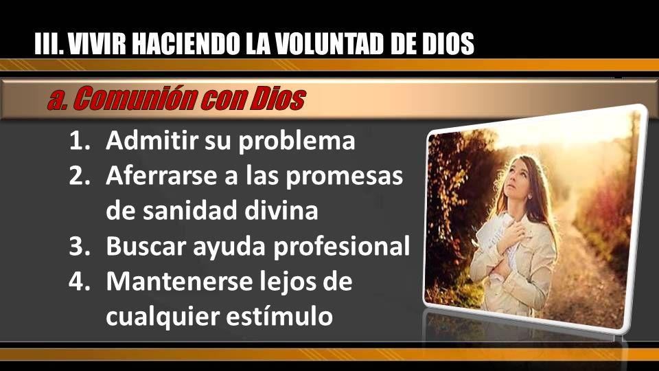 Aferrarse a las promesas de sanidad divina Buscar ayuda profesional