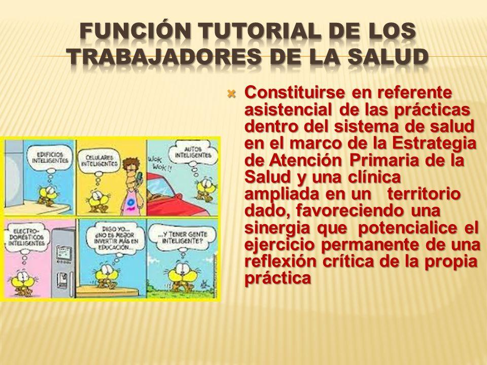 Función tutorial de los trabajadores de la salud