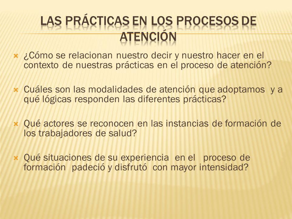 Las prácticas en los procesos de atención