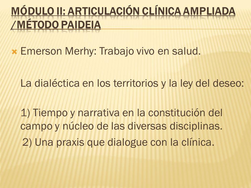 Módulo II: Articulación Clínica Ampliada /Método Paideia