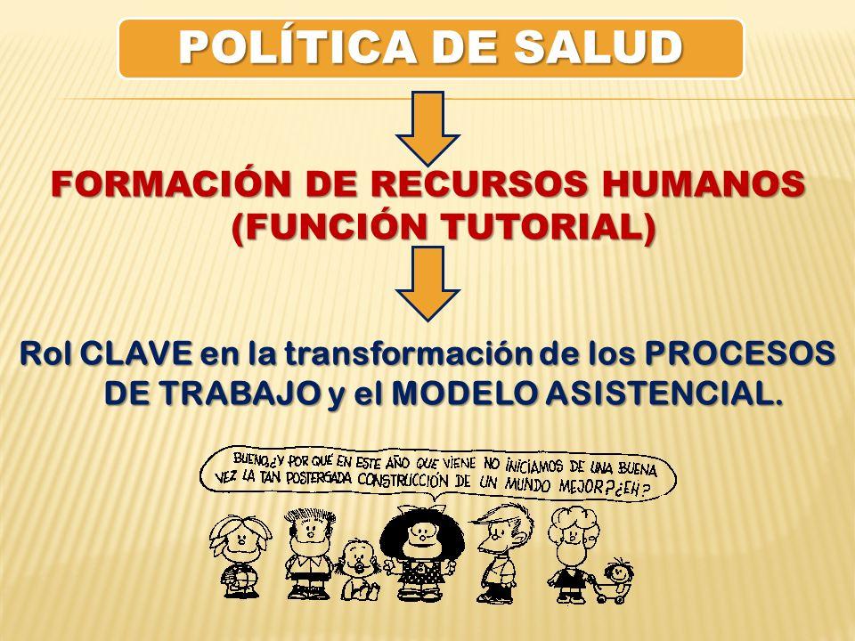 FORMACIÓN DE RECURSOS HUMANOS (FUNCIÓN TUTORIAL)