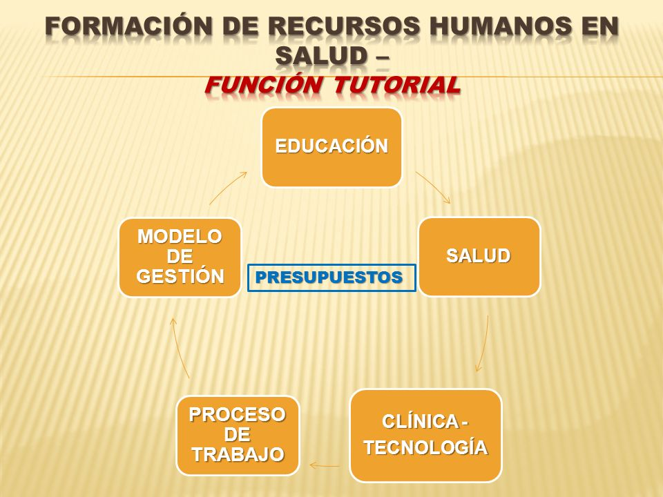 FORMACIÓN DE RECURSOS HUMANOS EN SALUD – Función tutorial