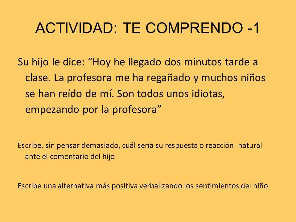 ACTIVIDAD: TE COMPRENDO -1