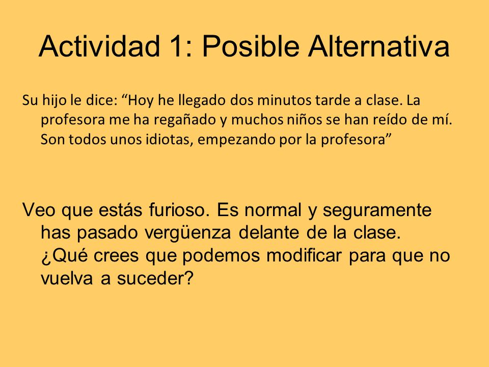 Actividad 1: Posible Alternativa