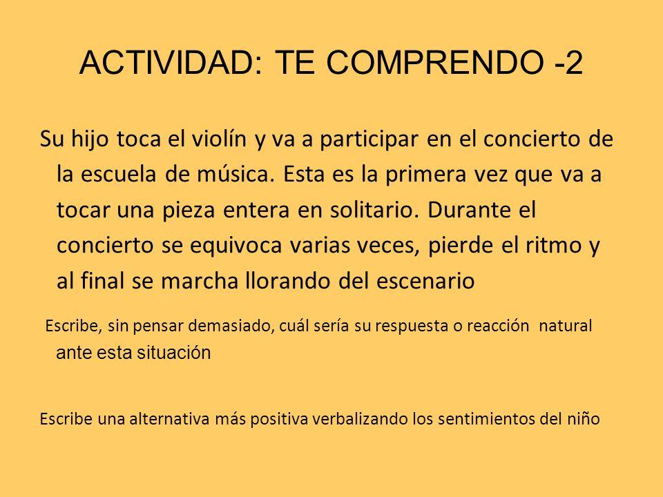 ACTIVIDAD: TE COMPRENDO -2