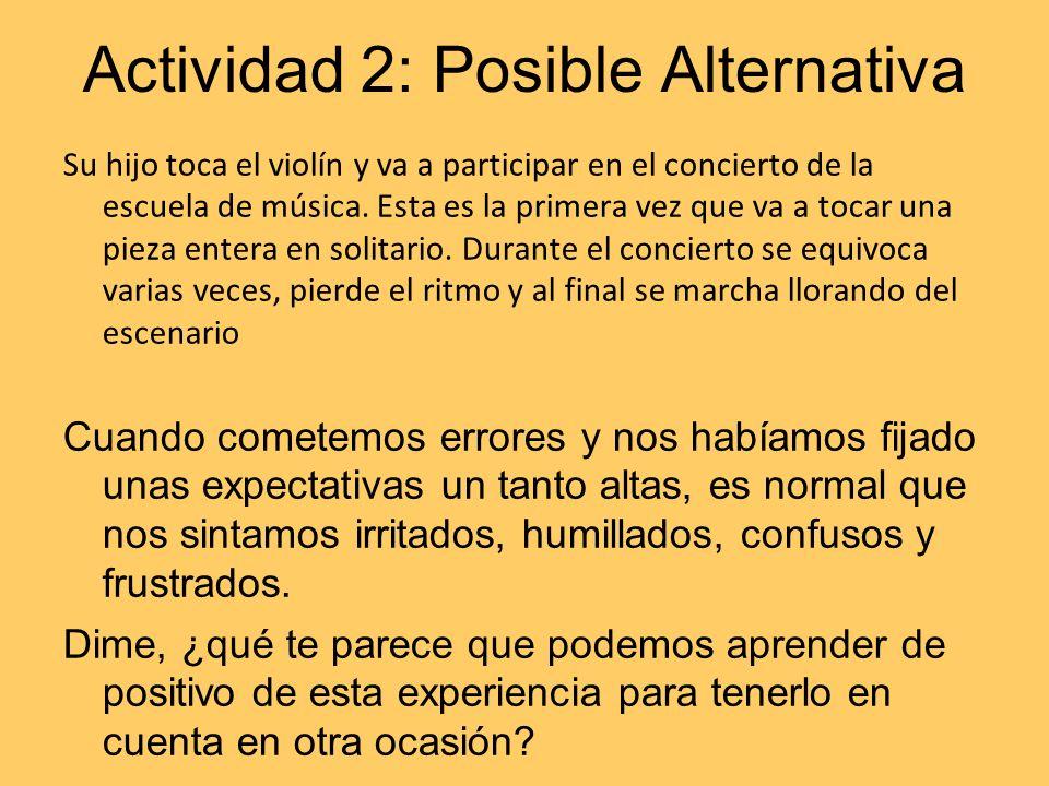 Actividad 2: Posible Alternativa