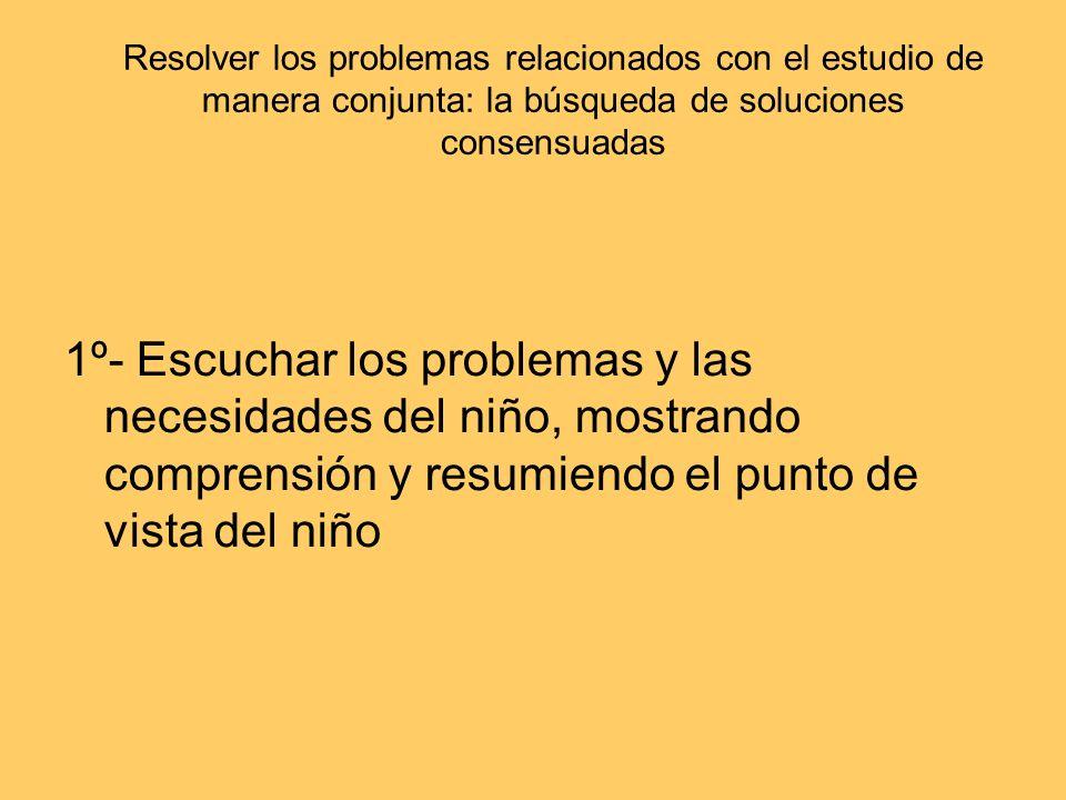 Resolver los problemas relacionados con el estudio de manera conjunta: la búsqueda de soluciones consensuadas