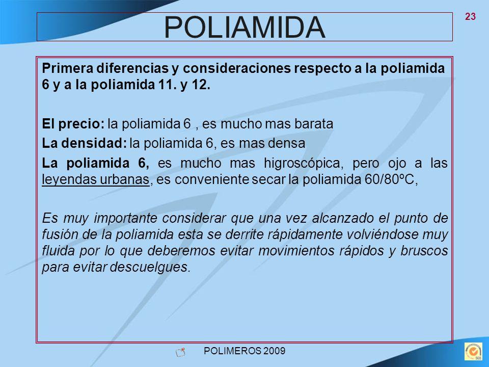 POLIAMIDA Primera diferencias y consideraciones respecto a la poliamida 6 y a la poliamida 11. y 12.