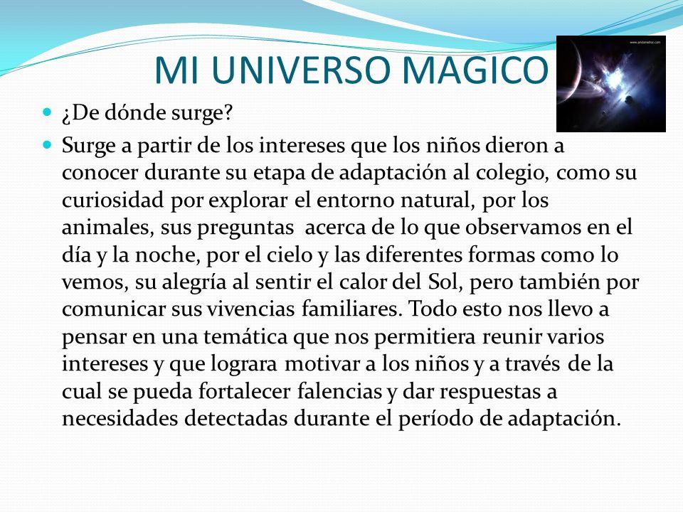 MI UNIVERSO MAGICO ¿De dónde surge