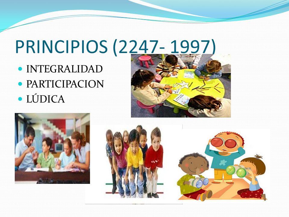 PRINCIPIOS (2247- 1997) INTEGRALIDAD PARTICIPACION LÚDICA